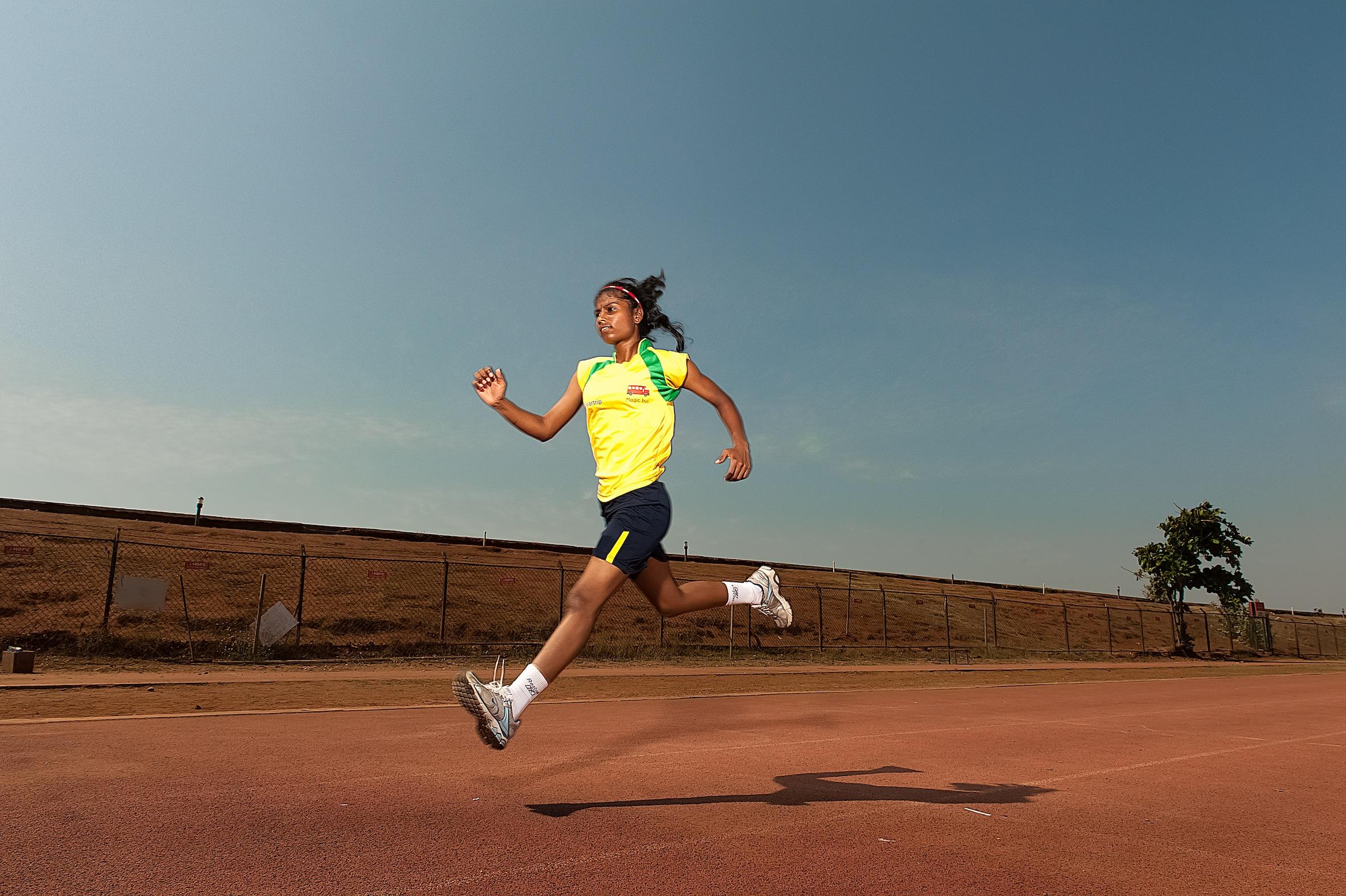 Parvati ganó su primera carrera a los nueve años